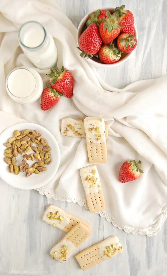 White Chocolate Pistachio Shortbreads by Kitchen McCabe - Jelanie 3