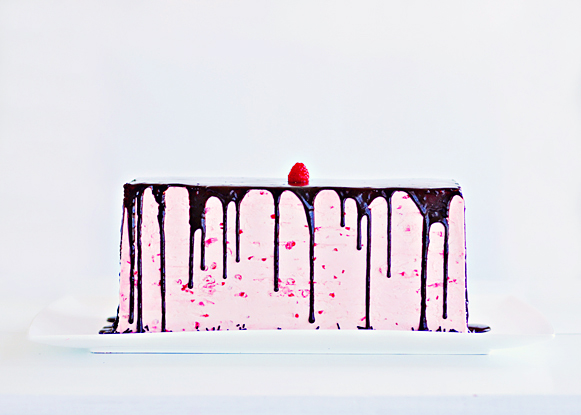 Dark Chocolate Raspberry Buttercream Cake 3