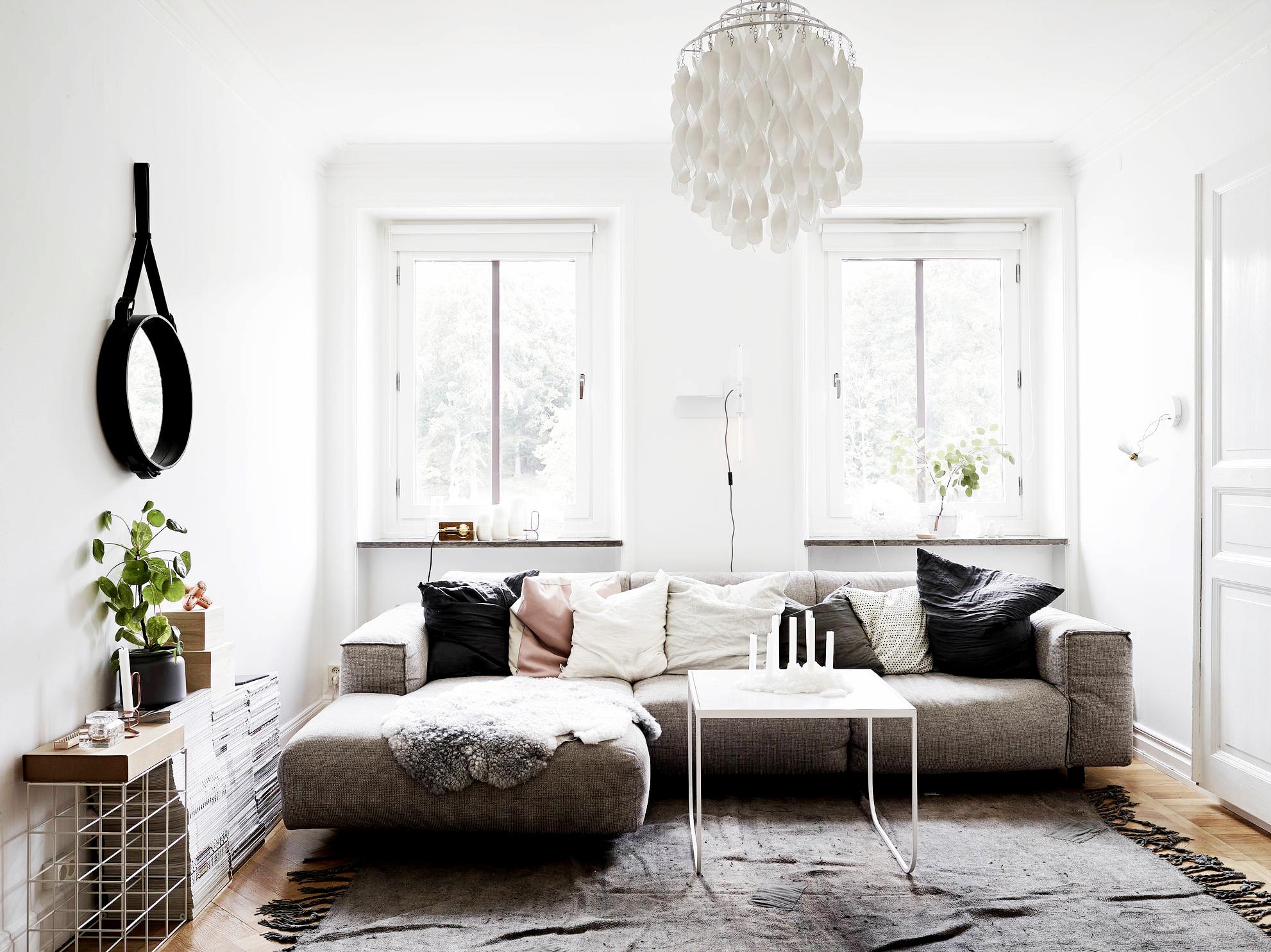 Jelanie blog - Small Scandinavian home - living room